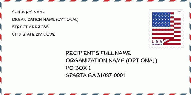 Sparta ga zip code